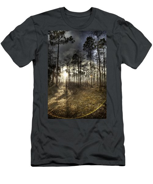 Big Cypress Fire At Sunset Men's T-Shirt (Athletic Fit)