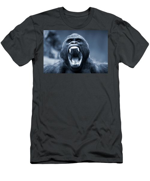 Big Gorilla Yawn Men's T-Shirt (Athletic Fit)