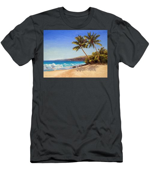 Hawaiian Beach Seascape - Big Island Getaway  Men's T-Shirt (Athletic Fit)