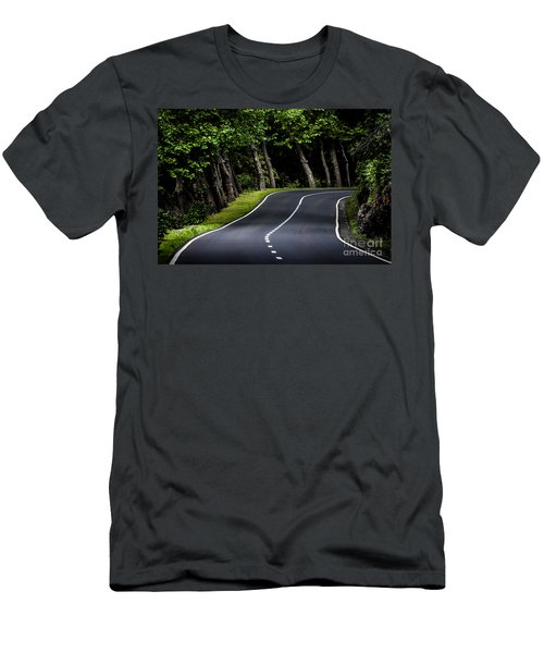 Big  Road Men's T-Shirt (Athletic Fit)