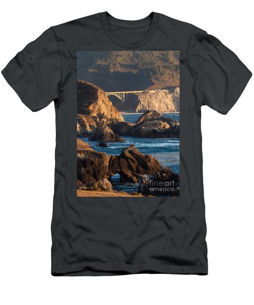 Big Sur Coastal Serenity Men's T-Shirt (Slim Fit) by Mike Reid
