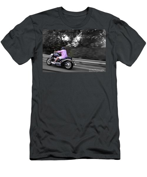 Biker Men's T-Shirt (Slim Fit) by Gandz Photography