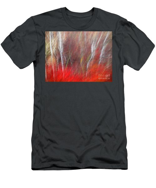 Birch Trees Abstract Men's T-Shirt (Athletic Fit)