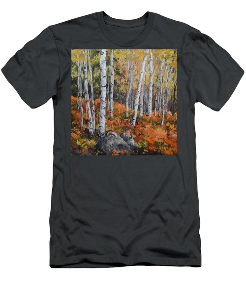 Birch Trees Men's T-Shirt (Slim Fit) by Alexandra Maria Ethlyn Cheshire
