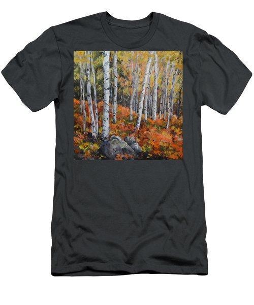 Birch Trees Men's T-Shirt (Athletic Fit)
