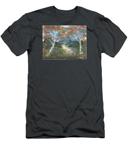 Birch Trees On The Ridge  Men's T-Shirt (Athletic Fit)