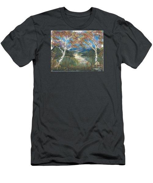 Birch Trees On The Ridge  Men's T-Shirt (Athletic Fit)