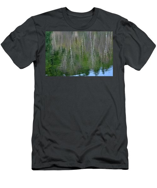 Birch Trees Reflected In Pond Men's T-Shirt (Athletic Fit)