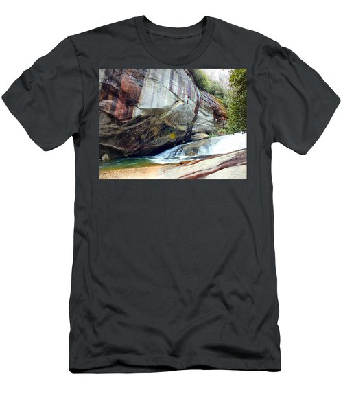 Birdrock Waterfall In Spring Men's T-Shirt (Athletic Fit)
