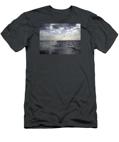 Birds At The Beach 2 Men's T-Shirt (Athletic Fit)