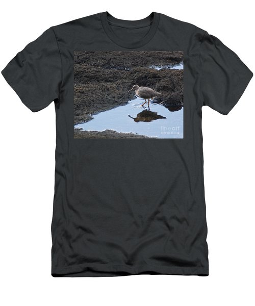 Men's T-Shirt (Slim Fit) featuring the photograph Bird's Reflection by Belinda Greb