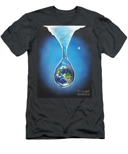 Birth Of Earth Men's T-Shirt (Athletic Fit)