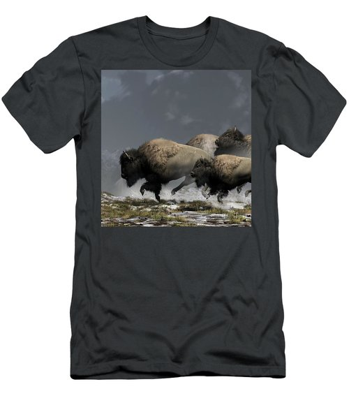 Bison Stampede Men's T-Shirt (Athletic Fit)