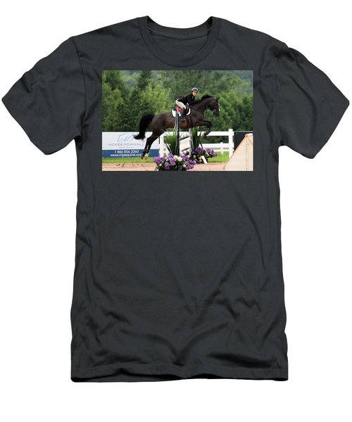 Black And Purple Men's T-Shirt (Athletic Fit)