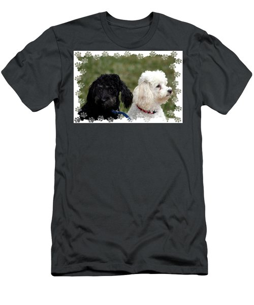 Black And White Men's T-Shirt (Athletic Fit)