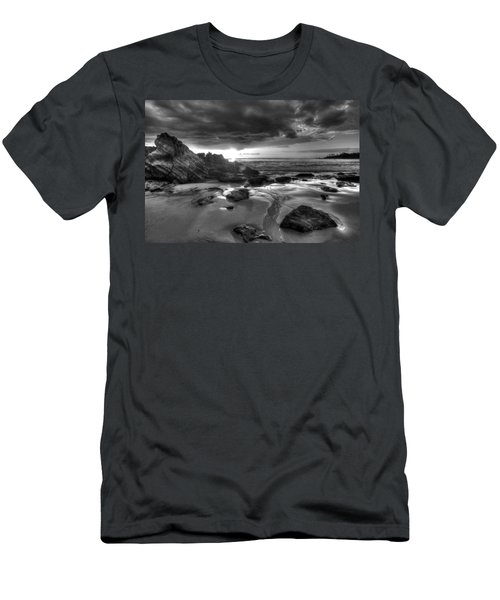 Black And White Laguna Beach Men's T-Shirt (Athletic Fit)