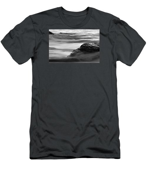 Black And White Seascape Men's T-Shirt (Athletic Fit)