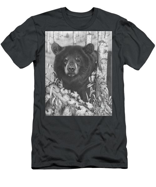 Black Bear On Newsome Creek Men's T-Shirt (Athletic Fit)