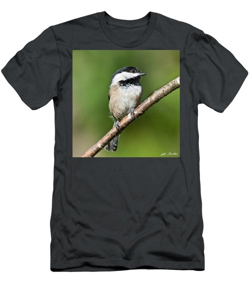 Black Capped Chickadee Men's T-Shirt (Athletic Fit)