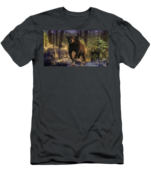 Men's T-Shirt (Slim Fit) featuring the painting Black Max by Rob Corsetti