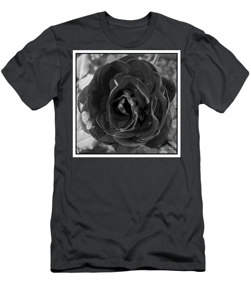 Men's T-Shirt (Slim Fit) featuring the photograph Black Rose by Nina Ficur Feenan