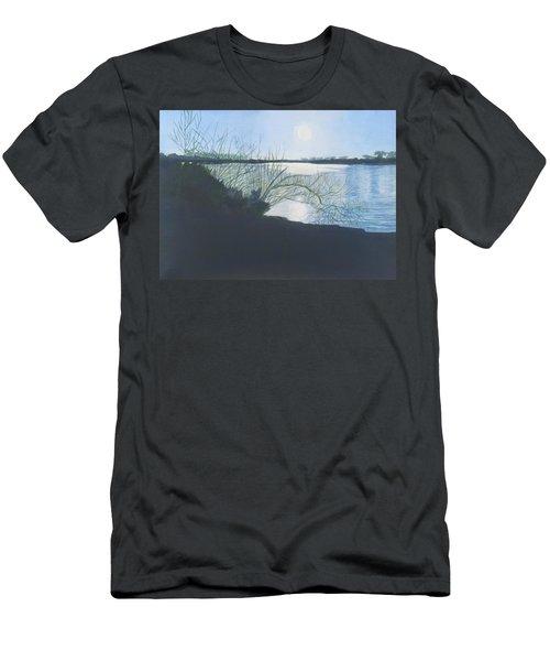Black Swan Lake Men's T-Shirt (Slim Fit) by Joanne Perkins