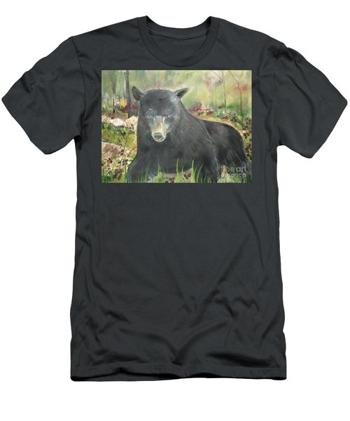 Men's T-Shirt (Slim Fit) featuring the painting Blackberry Scruffy 2 by Jan Dappen
