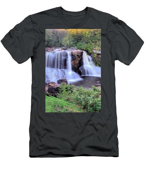 Blackwater Falls Men's T-Shirt (Slim Fit) by Gordon Elwell
