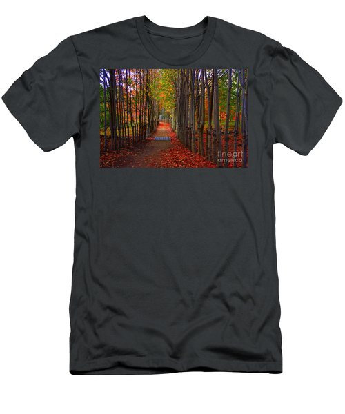 Blanket Of Red Leaves Men's T-Shirt (Athletic Fit)
