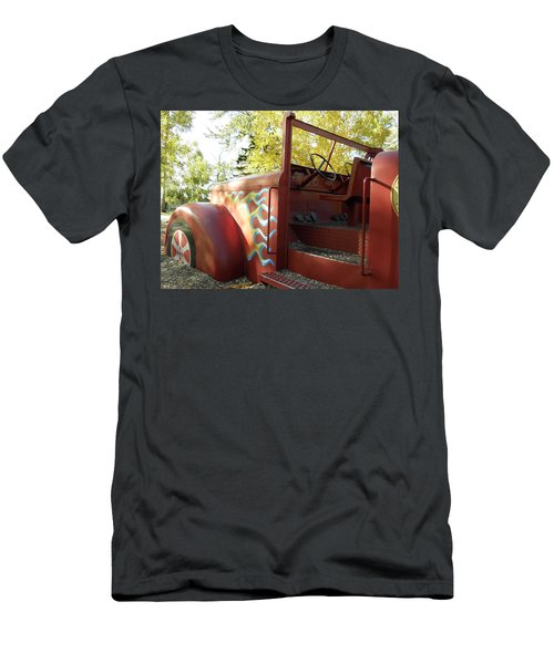 Blazing Red Fire Truck Men's T-Shirt (Athletic Fit)
