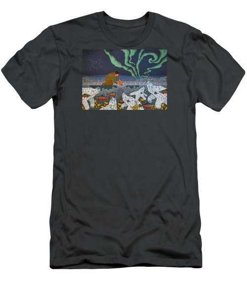 Men's T-Shirt (Athletic Fit) featuring the painting Blessing Of The Polar Bears by Chholing Taha