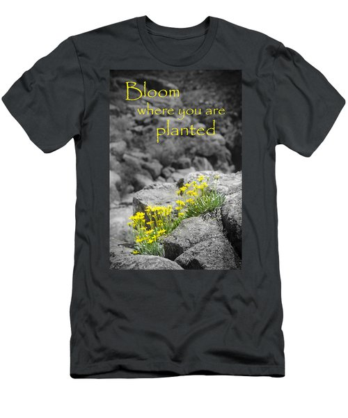 Bloom Where You Are Planted Men's T-Shirt (Athletic Fit)