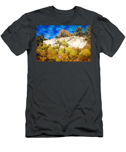 Men's T-Shirt (Athletic Fit) featuring the photograph Blooming Nevada Desert Near Ely by Gunter Nezhoda