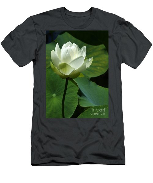 Blooming White Lotus Men's T-Shirt (Athletic Fit)