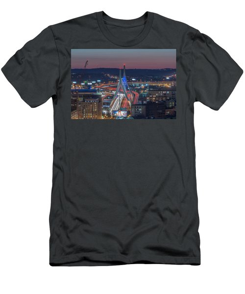 Blue And Red Zakim Men's T-Shirt (Athletic Fit)