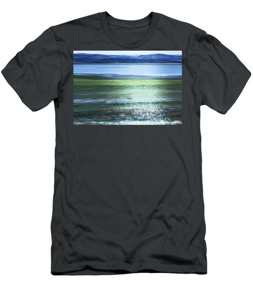Blue Green Landscape Men's T-Shirt (Athletic Fit)