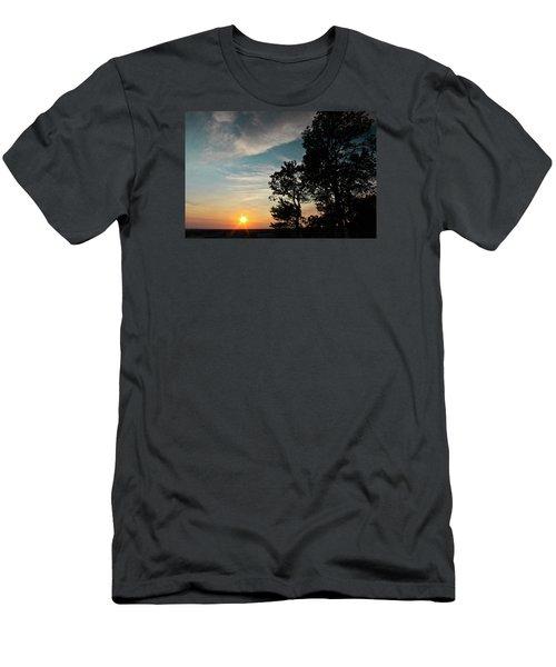 Blue Heaven Sunset Men's T-Shirt (Slim Fit) by Julie Andel