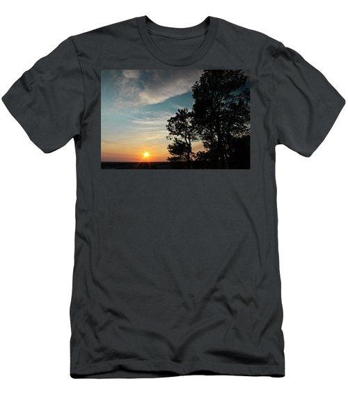 Blue Heaven Sunset Men's T-Shirt (Athletic Fit)