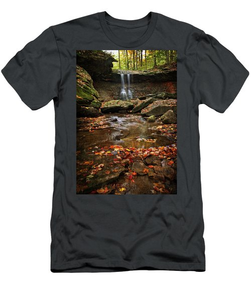 Blue Hen Falls In Autumn Men's T-Shirt (Athletic Fit)