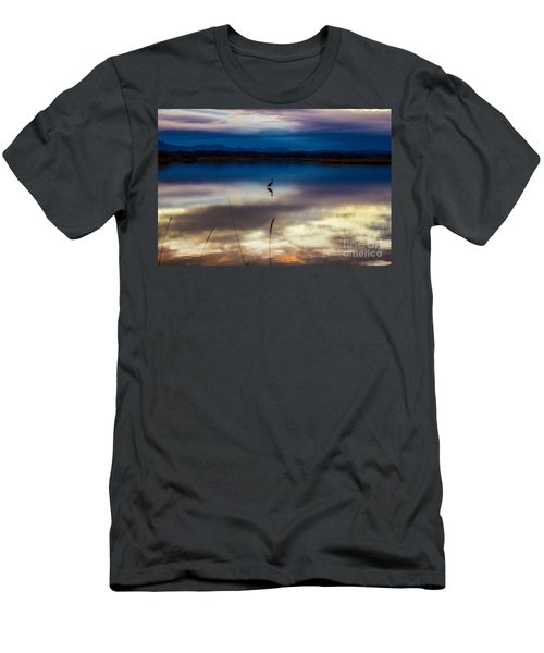 Blue Heron Sun Set Men's T-Shirt (Athletic Fit)