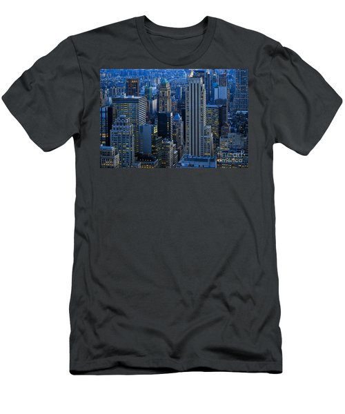 Blue Hour In New York City Usa Men's T-Shirt (Athletic Fit)
