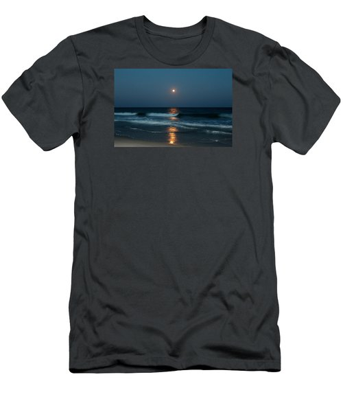Men's T-Shirt (Slim Fit) featuring the photograph Blue Moon by Cynthia Guinn