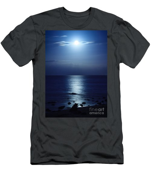 Blue Moon Rising Men's T-Shirt (Athletic Fit)