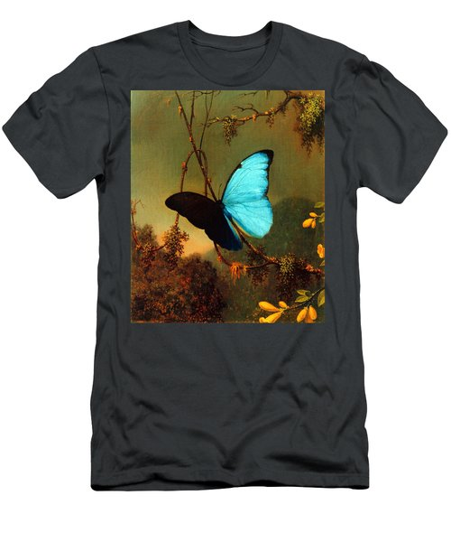 Blue Morpho Butterfly Men's T-Shirt (Athletic Fit)