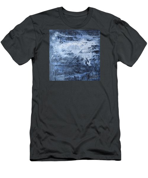 Men's T-Shirt (Slim Fit) featuring the photograph Blue Mountain by Susan  Dimitrakopoulos