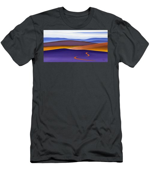Blue Ridge Orange Mountains Sky And Road In Fall Men's T-Shirt (Athletic Fit)
