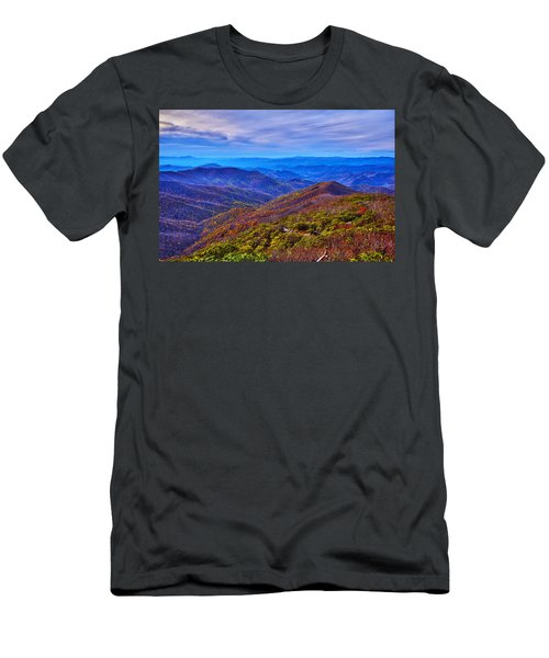 Men's T-Shirt (Slim Fit) featuring the photograph Blue Ridge Parkway by Alex Grichenko