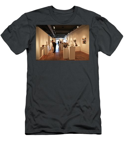 Blue Spiral Gallery In Asheville Men's T-Shirt (Athletic Fit)