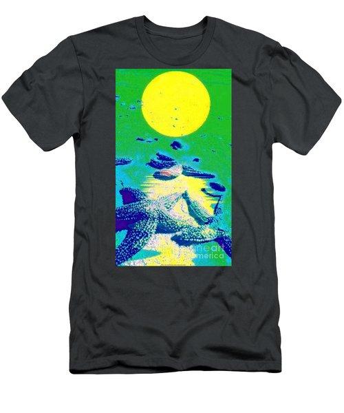 Blue Starfish Yellow Moon Men's T-Shirt (Athletic Fit)