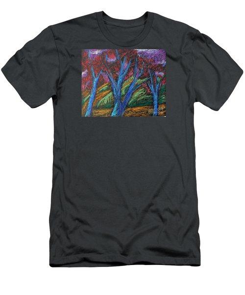 Central Park Blue Tempo Men's T-Shirt (Slim Fit) by Elizabeth Fontaine-Barr